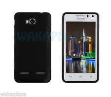 Black Silicone TPU Cover Case for Huawei Ascend G600 U8950d Honor+ T8950