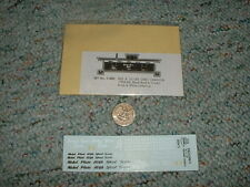 Miller Herald King decals HO C-400 Nickel Plate High Speed rd si gr caboose G136