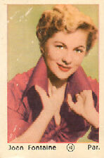DUTCH MOVIE STAR GUM CARDS - No. 048 JOAN FONTAINE