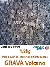 GRAVA 4,8KG natural decorativa de ACUARIO terrario pecera peces tortuguera 6-8mm