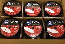 HP DVD-R 16X 4.7GB 120Min Inkjet White Hub Printable 600pcs Pack In Plastic Wrap