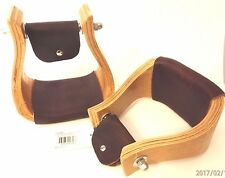 "formay 1721564 Oak wood 3"" neck bell stirrups 4"" tread,western horse tack"