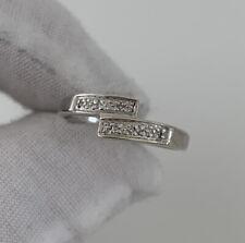 Over Ring, 9k 375 9ct White Gold Diamond Cross