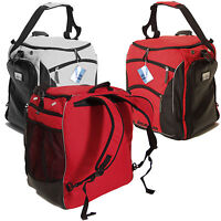 BRUBAKER 'Professional' Ski Boot Bag Backpack Rucksack Helmet Bag Red or Silver