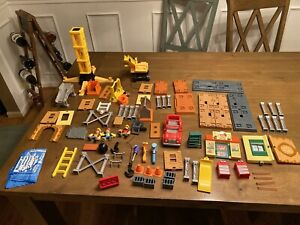 LOT of 70+ FISHER PRICE HANDY MANNY WORKSHOP AND CONSTRUCTION PLAYSET PIECES