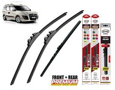 "Fiat Doblo 2010-ON full set windscreen wiper blades 24""16""15"" front+rear"