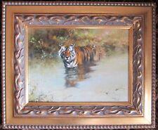 "Tony Forrest Original Oil on Canvas ""Bathing Tiger"""