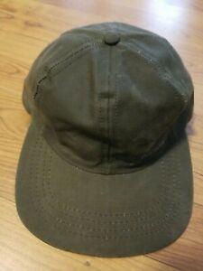 Vintage Filson Cloth Leather Strapback Hat belonging to Artist Charles Cuidera