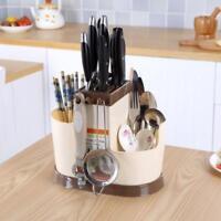 Dish Drying Rack Kitchen Tray Drainer Colanders Basket Chopsticks Knife Holder