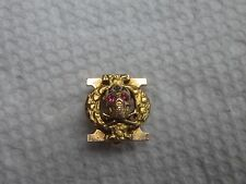 Old 10k Solid Gold Scrolled Phi Chi Fraternity Medical Skull Pin Badge