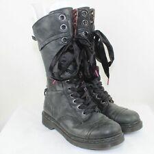 Dr. Martens Ladies Black Leather Mid Calf Triumph Boots Size 9
