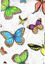 "Vintage Gift Wrap Paper~Butterflies~ECO Friendly ~Human-i-Tees~2 Sheets 22""x30"""