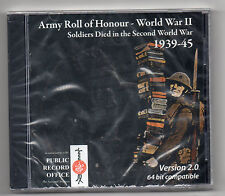 CD ROM: ARMY ROLL OF HONOUR - WORLD WAR TWO 1939-45