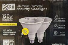 KODO 120-Watt PAR38 LED Motion Sensor Flood Light Bulb Bright White (2-Pack)