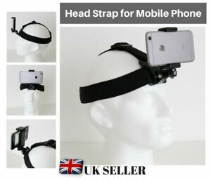 Head Strap Harness Mount Holder for Mobile Phone iPhone Samsung Sony Huawei UK