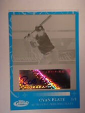 2007 Robinson Cano Topps Finest Auto Cyan Printing Plate #RFMA-RC #1/1 Mint