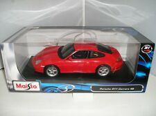 31628 Maisto Red Porsche 911 Carrera 4S 1:18 Metal Diecast Model Car New Boxed