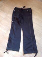 Ladies Next Casual Trousers Cargo Type 10r Black BNWT