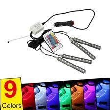 9 LED RGB Color Changing Car Interior Decorative Light Atmosphere Strip Lamp AU