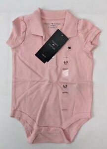 Tommy Hilfiger Baby Girls Pink Size 6-9 Months One-Piece Bodysuit NEW