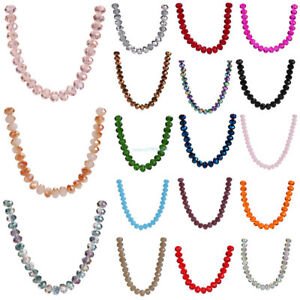 Hot~ 25pcs 10mm Wholesale Faceted Rondelle Crystal Bead Glass Loose Spacer Beads