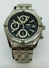 Breitling Longitude Chronograph Steel Automatic Watch A20348 - Box And Papers