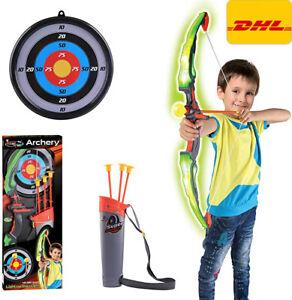 Spielzeug Pfeil und Bogen Set Kinder Kinderbogen-Set Bogenschießen Flitzebogen