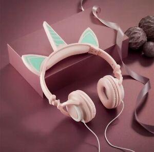 AVON Caticorn Light-Up LED Headphones Kids Earphones Pink Unicorn Cat. NEW
