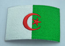 ALGERIA ALGERIAN COUNTRY FLAG Embroidered Sew Iron On Cloth Patch Badge Applique