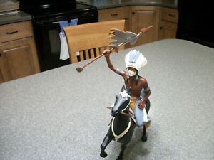 VINTAGE HARTLAND PLASTICS CUSTOMIZED INDIAN CHIEF AND HORSE