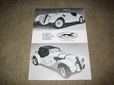 Sbarro BMW 328 replica prospetto foglio single brochure di 19??
