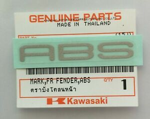 KAWASAK 'ABS' FENDER MARK STICKER BADGE SILVER  *UK STOCK**