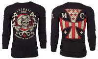 Archaic AFFLICTION Men THERMAL T-Shirt INJECTOR American Customs Biker M-3XL $58