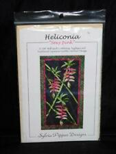 Sylvia Pippen Heliconia Sexy Pink Flower Wall Quilt Pattern Applique Sashiko