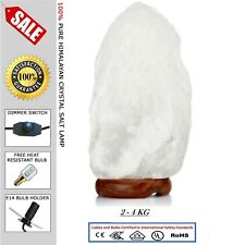 Himalayan Salt Lamp Crystal White Salt Lamp Healing Ionizing Lamps Best Quality