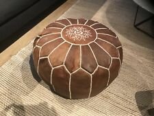 Stunning Moroccan Leather Ottoman Pouffe Pouf Footstool