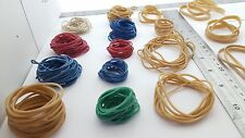 "1000 x Elastic Rubber Bands ~ Assorted Size & Colour ~Length 1"" to 3"""