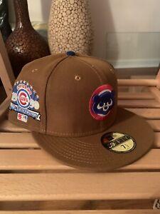 New Era 59Fifty Hat Club Chicago Cubs 7 1/2 Yote Crackerjacks Glow Royal Blue UV