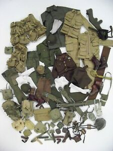DRAGON, DML, DID 1:6 SCALE WWII US ARMY UNIFORMS, WEAPONS & GEAR LARGE LOOSE LOT