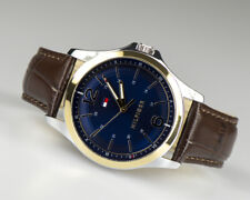 TOMMY Hilfiger 1791523 Stainless Steel and Brown Leather Mens Watch