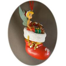 Disneyland Paris - Tinkerbell Stocking - Christmas Ornament - Bauble + Map
