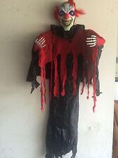 Posable Hanging Halloween Prop Indoor Outdoor Scary Evil Circus Clown 5 FT