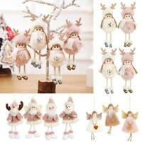 Christmas Gift Xmas Tree Hanging Pendant Angel Doll Ornament Home Table Decors