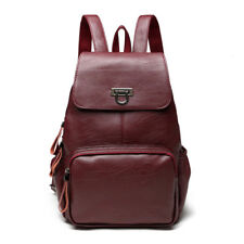Women Backpack Genuine Leather Female Large Capacity Travel School Bag