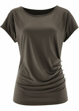 Cotton Blend Crew Neck Casual Tops & Shirts for Women