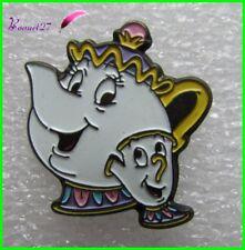 Pin's Film Disney LA BELLE et la BETE Mme Samovar et Zip - Mrs Potts  #556