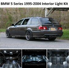 PREMIUM BMW 5 SERIES E39 ESTATE INTERIOR FULL WHITE LED BULBS LIGHT KIT SET