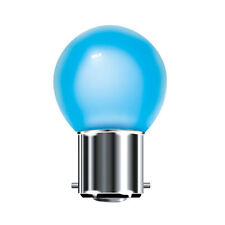 Bell Branded Blue Coloured 15w Light Bulb Round Globe Golf Ball BC B22 Lamp