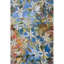 Artscape Multi-color Textured Clematis 24 In. x 36 In. Indoor Window Film