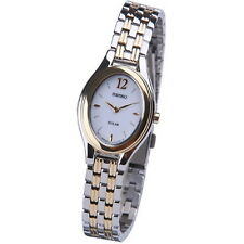 Seiko Solar Two Tone Stainless Steel Ladies Watch SUP006P1